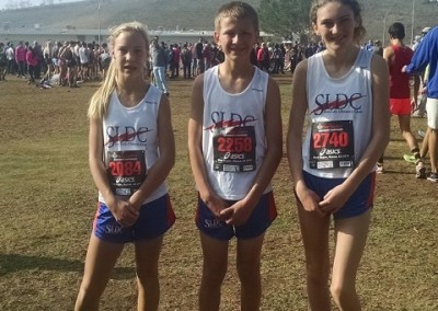 Audrey McClish, Jacob Nichols, & Samantha Simard at the Footlocker West meet