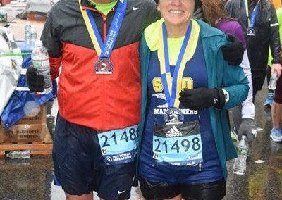 Chuck & Marian Fiorentino at the 2018 Boston Marathon